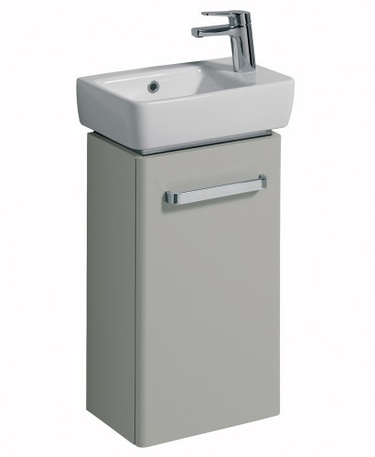 E200 400 Grey Vanity Unit Wall Hung