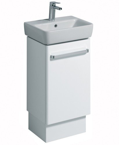 E200 450 White Vanity Unit Floor Standing