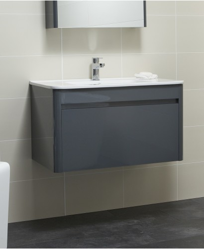 Ella 80cm Anthracite Vanity Unit and Basin