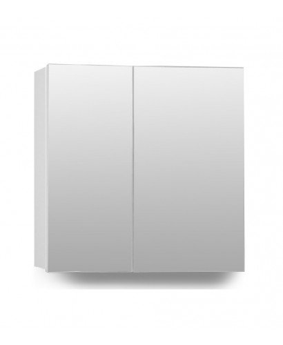 Hampton 2 Door Mirror Cabinet 70cm White