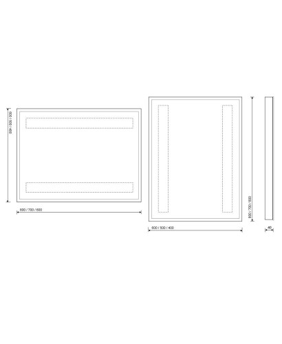 Ezra 60 x 80 bathroom mirror for Mirror 60 x 80