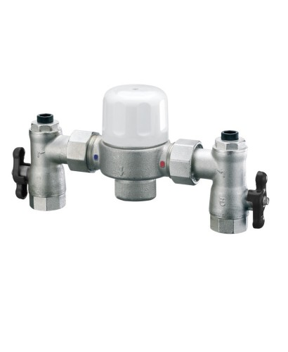 """Industrial Thermostatic Mixing Valve: Heatguard 1"""" X 1.1/4"""" Euromixer Thermostatic Group Mixing"""