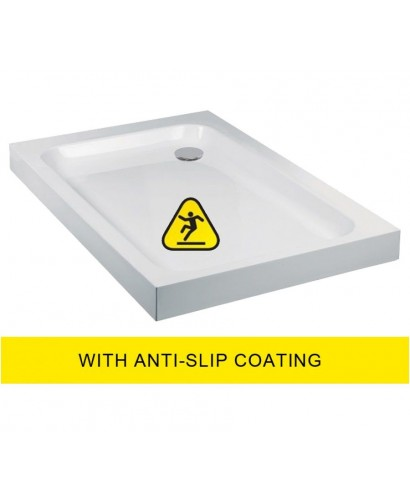 JT Ultracast 900x760 Rectangle Shower Tray - Anti Slip