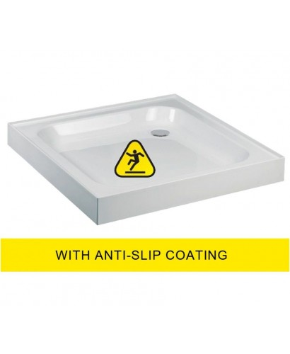 JT Ultracast 800 Square Upstand Shower Tray  - Anti Slip 800x800