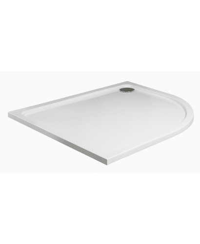 Kristal Low Profile 1000x800 Offset Quadrant Shower Tray RH with FREE shower waste
