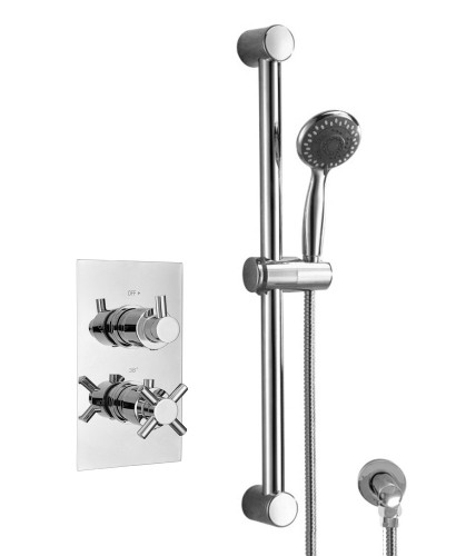 LIBRA Dual Shower Valve & Round Slide Rail Kit