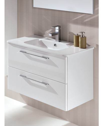 Mara White 80cm Vanity Unit 2 Drawer and Basin