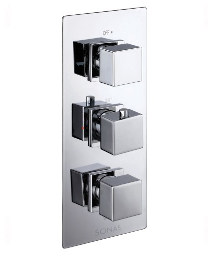 PICTOR Triple Control Shower Valve with 3 Outlet