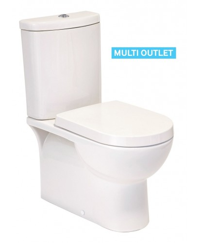Perth Fully Shrouded Toilet And Soft Close Seat Multi