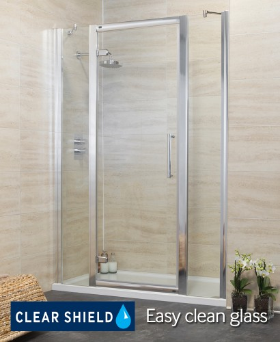 Revive 1400 Hinge Shower Door with Two Infill Panels - Adjustment 1340-1400mm