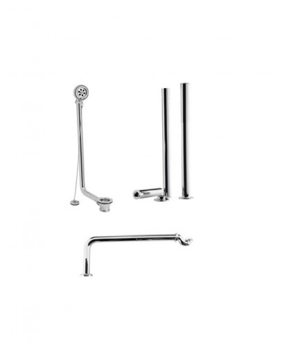 Exposed Roll Top Bath Pack Chrome
