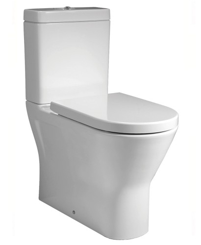 Resort Close Coupled Fully Shrouded Rimless Toilet & Soft Close Seat