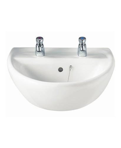 Sola 500 Washbasin 2 Tap Hole