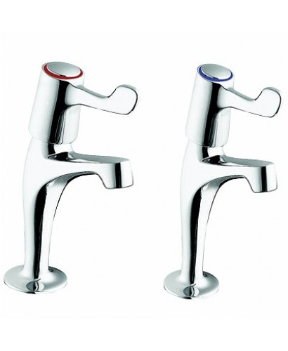 """Sola High Neck Lever Action Basin Taps 6"""" Long levers"""