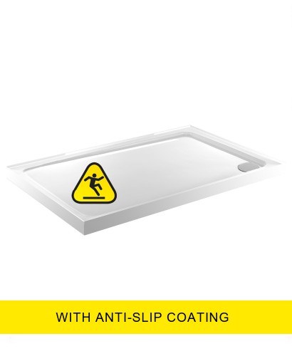 Kristal Low Profile 1600X700  Rectangle Upstand Shower Tray  - Anti Slip  with FREE shower waste