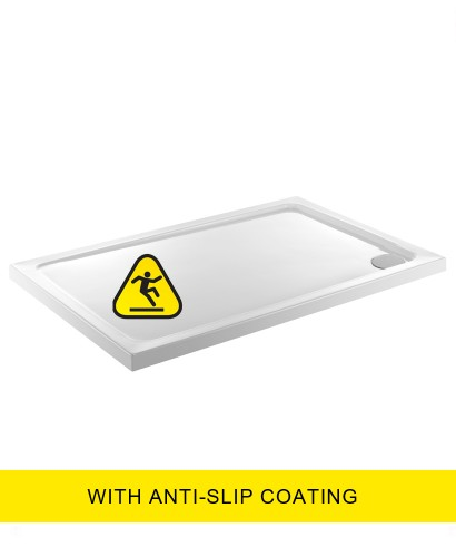 Kristal Low Profile 800x1000 Rectangle Shower Tray -Anti Slip  with FREE shower waste