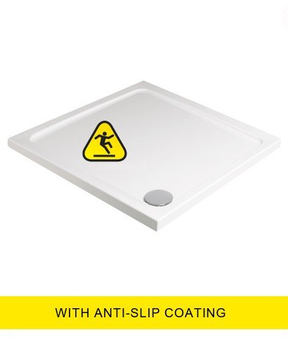 Kristal Low Profile 900 Square Shower Tray -Anti Slip with FREE shower waste