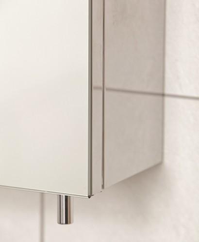 Stilo single door mirror cabinet 400 x 600 mirrors for Bathroom cabinets 600 x 600