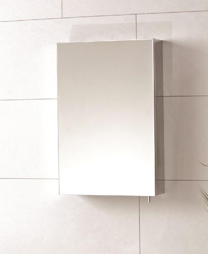 Stilo single door mirror cabinet 400 x 600 for Bathroom cabinet 600 x 400