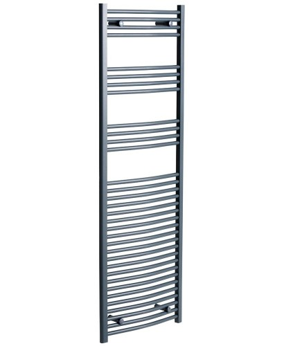 Sonas 1800 x 600 Curved Towel Rail - Anthracite