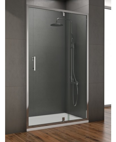 Style 1200mm Inline Pivot Shower Door - Adjustment 1150- 1190mm