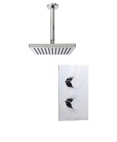 Tristan Rectangle Thermostatic Shower Kit F