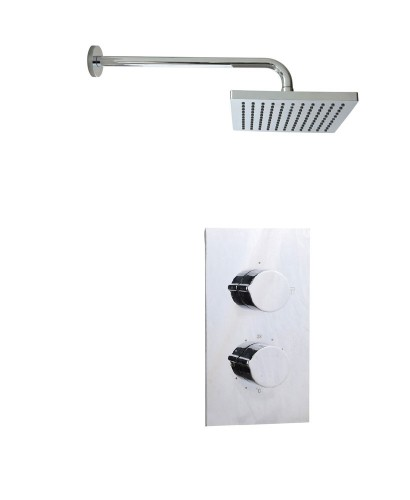 Tristan Rectangle Thermostatic Shower Kit E
