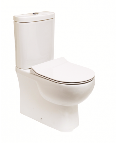 Tonique Fully Shrouded Toilet & SLIM Soft Close Seat - Comfort Height - Projection 625mm