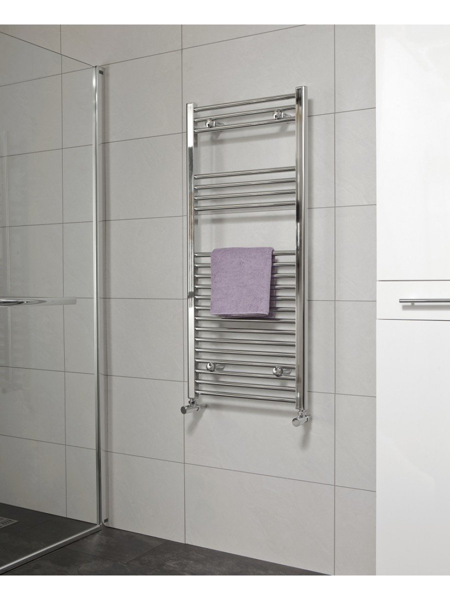Sonas 1200 x 600 Straight Towel Rail - Chrome