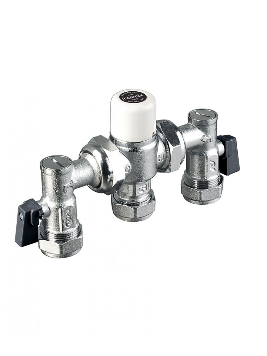 Intamix 15mm TMV3 Mixing Valve c/w Isolating Valves