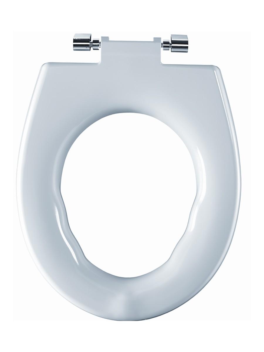 Avalon Seat Ring White Top Fix Steel Hinge