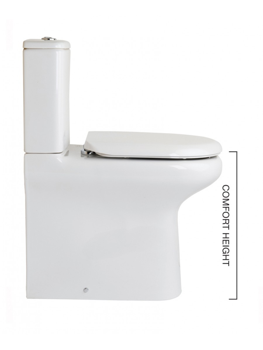 Stupendous Compact Fully Shrouded Toilet Soft Close Seat Comfort Height Unemploymentrelief Wooden Chair Designs For Living Room Unemploymentrelieforg