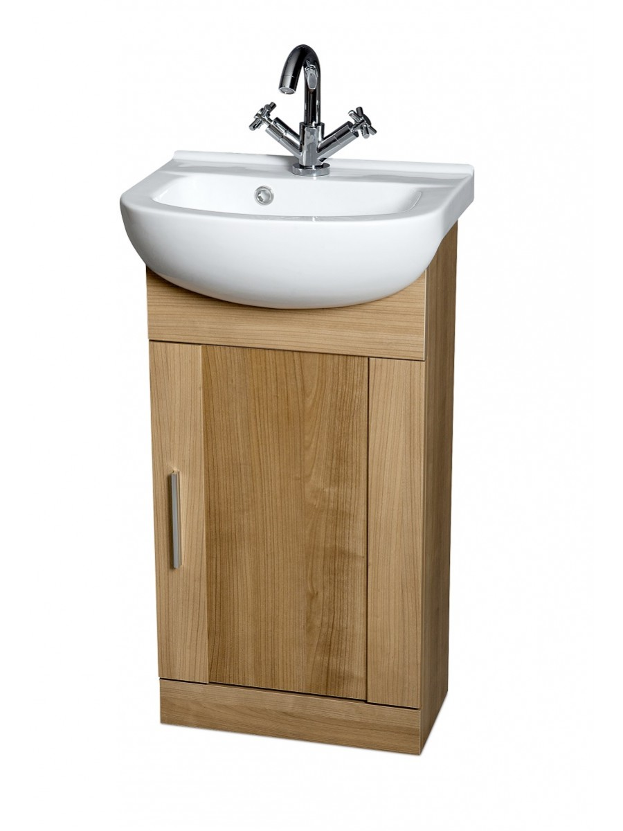 Oslo Oak 45cm Vanity Unit & Basin