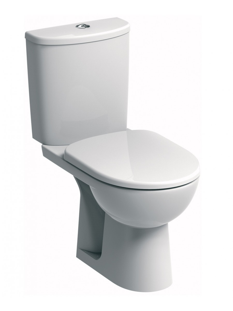 E100 Round Standard Close Coupled Toilet & Soft Close Seat