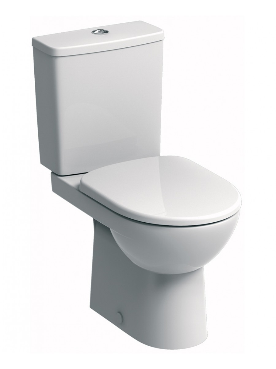 E100 Square Close Coupled Premium Toilet & Soft Close Seat