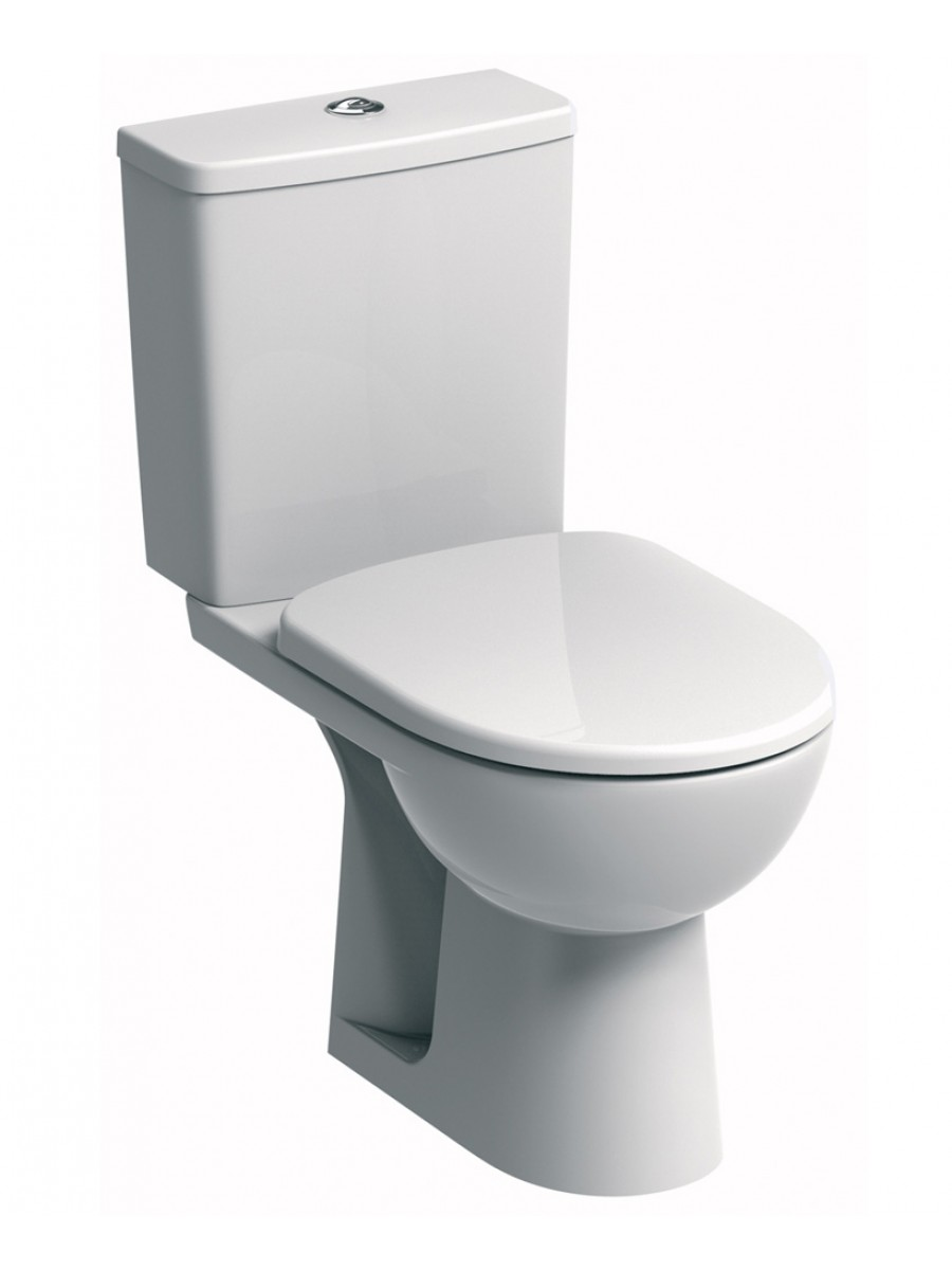 E100 Square Standard Close Coupled Toilet & Soft Close Seat