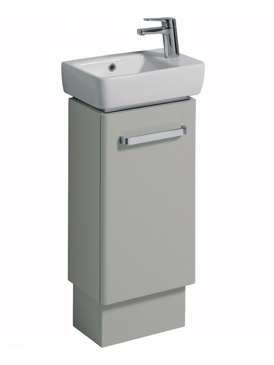E200 400 grey vanity unit floor standing for Floor standing bathroom furniture