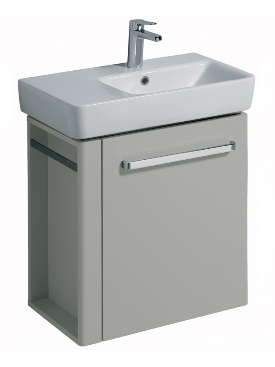 E200 650 Grey Vanity Unit Wall Hung with LH Towel Rail