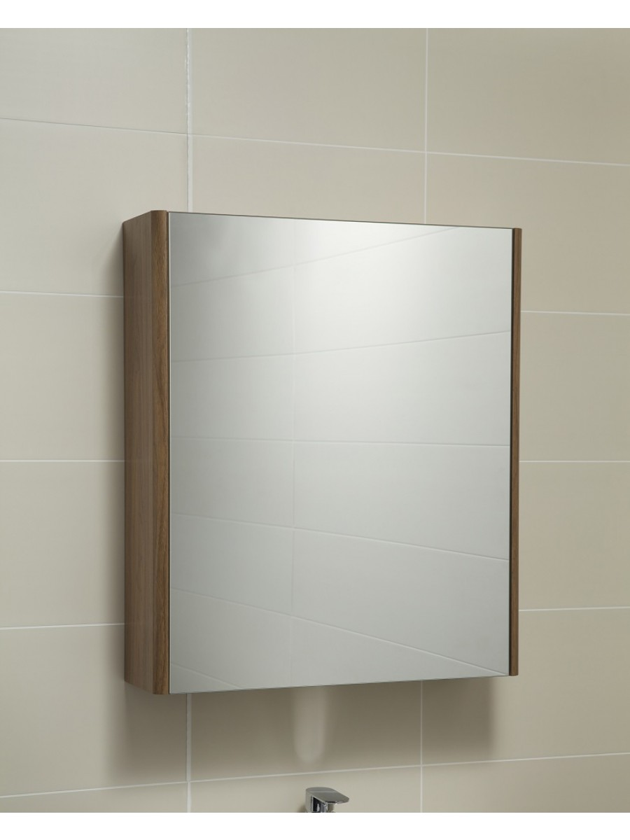 Ella 60 Mirror Cabinet Walnut