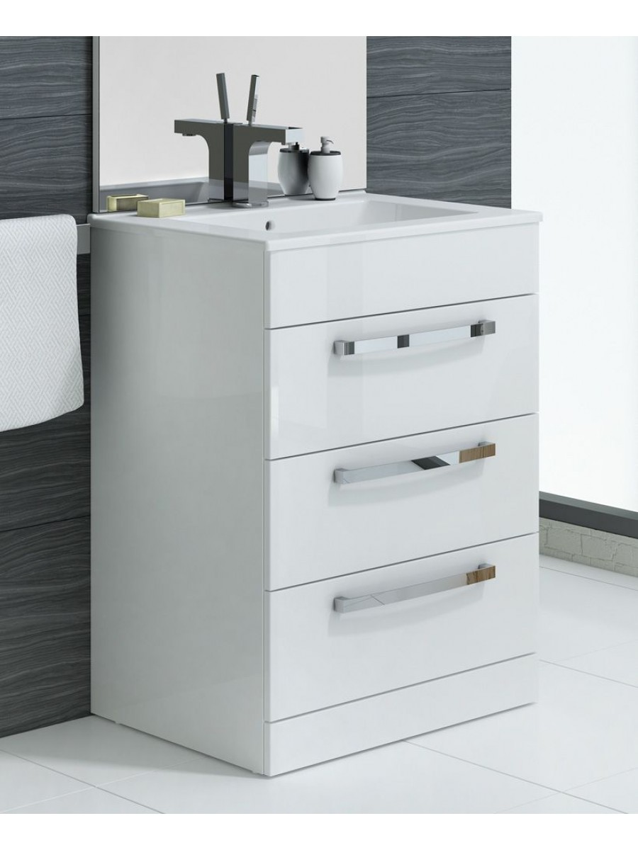 Turin White Vanity Unit With Tap And Waste Special Offer