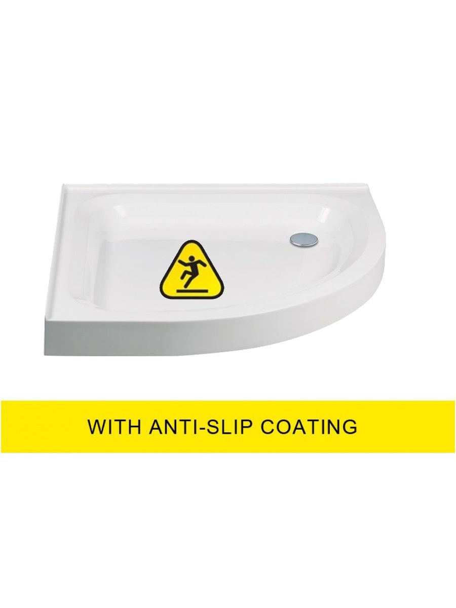 JT Ultracast 800 Quadrant 2 Upstand  550 Radius Shower Tray - Anti Slip