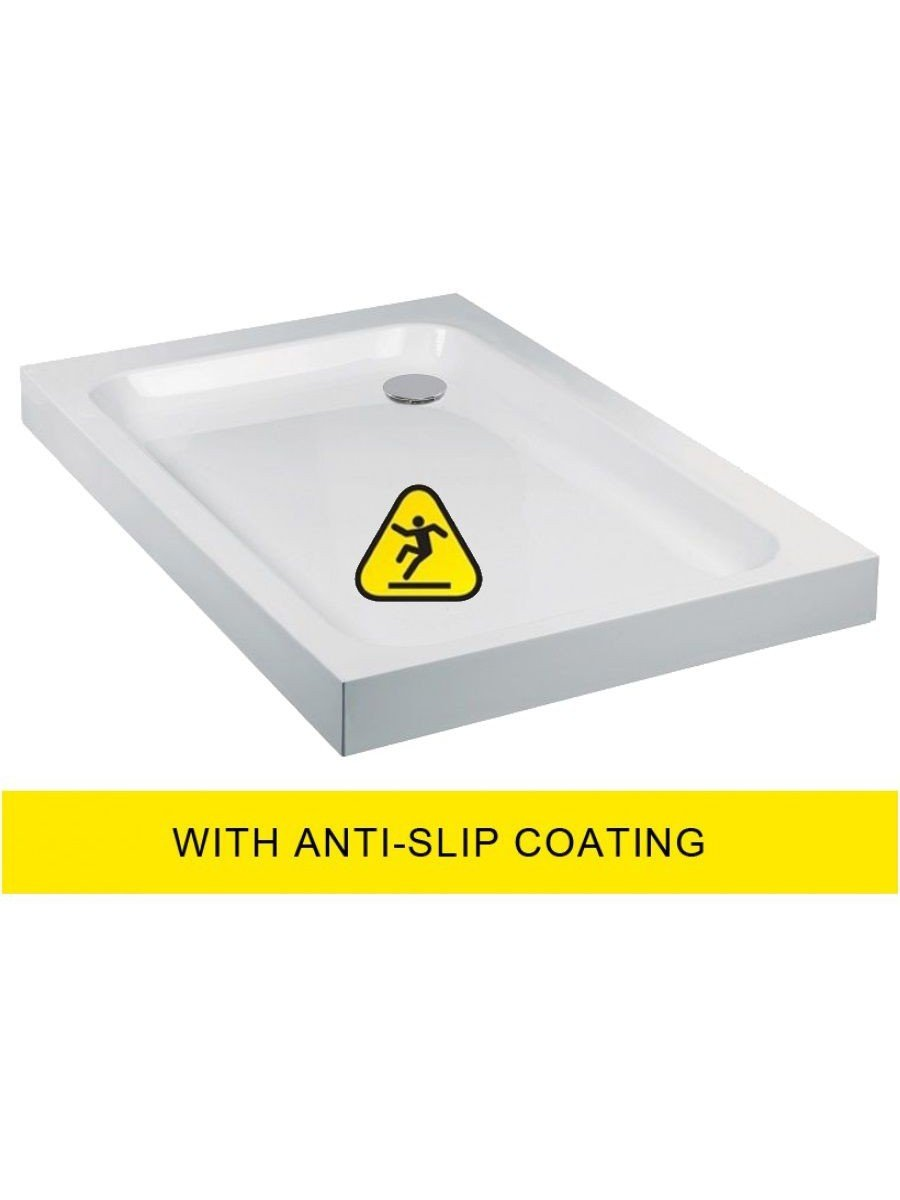 JT Ultracast 900x800 Rectangle Shower Tray - Anti Slip
