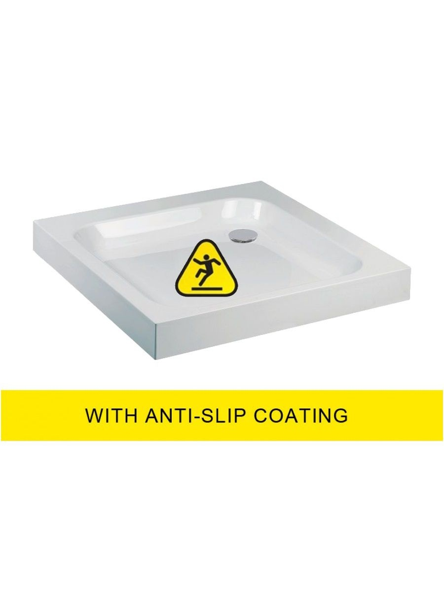 JT Ultracast 1000 Square Shower Tray - Anti Slip