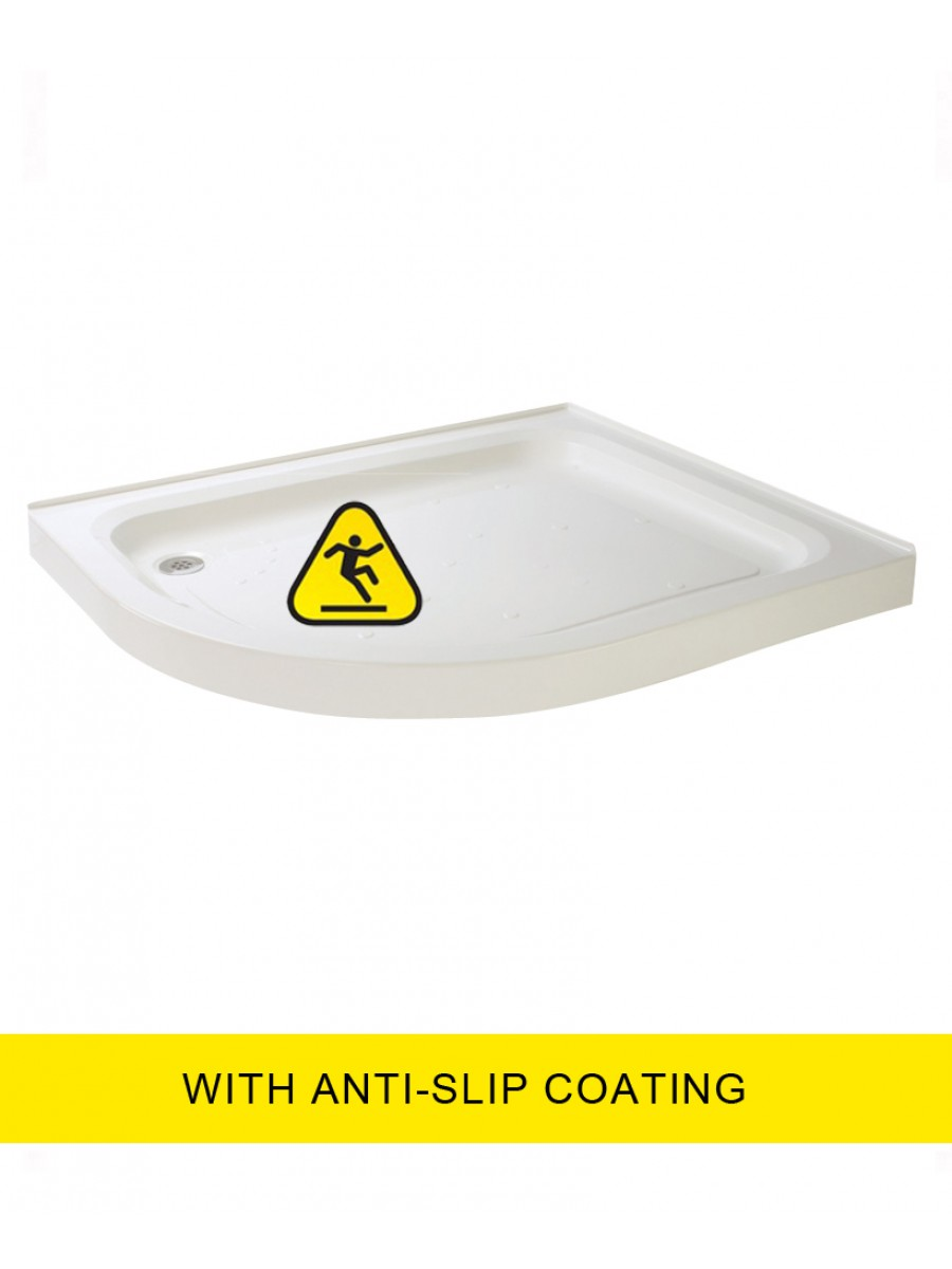 JT Ultracast 900X800 Offset Quadrant Upstand Shower Tray -LH -  Anti Slip