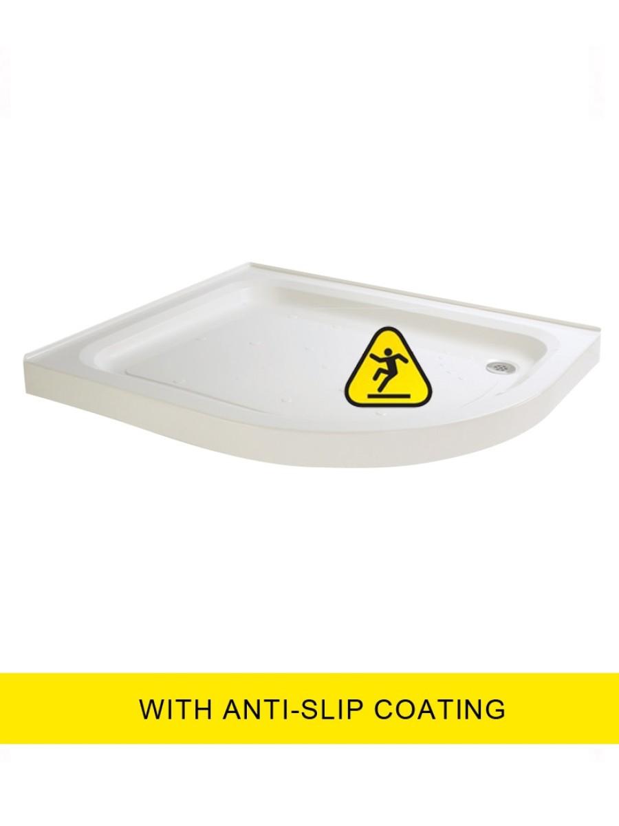 JT Ultracast 1000x800 Offset Quad  Upstand Shower Tray RH - Anti Slip