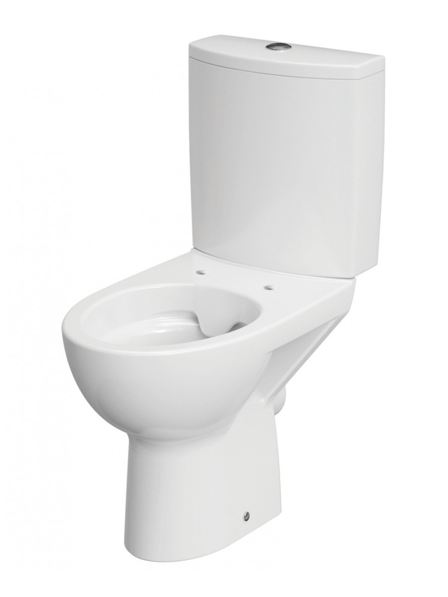 Parva rimless close coupled, horizontal outlet including duroplast soft close seat & cover metal hinge