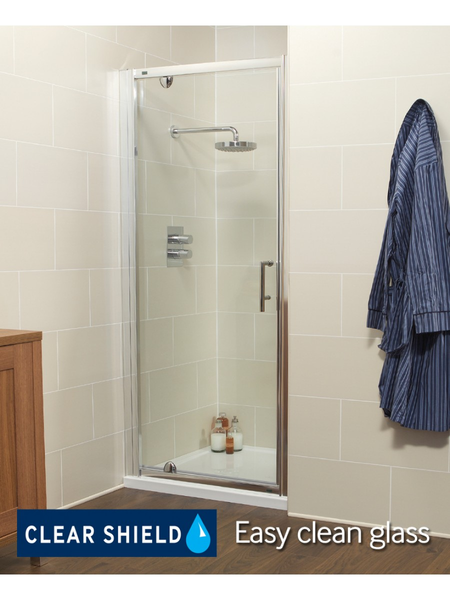 K2 700mm Pivot Shower Door - Adjustment 640-700mm