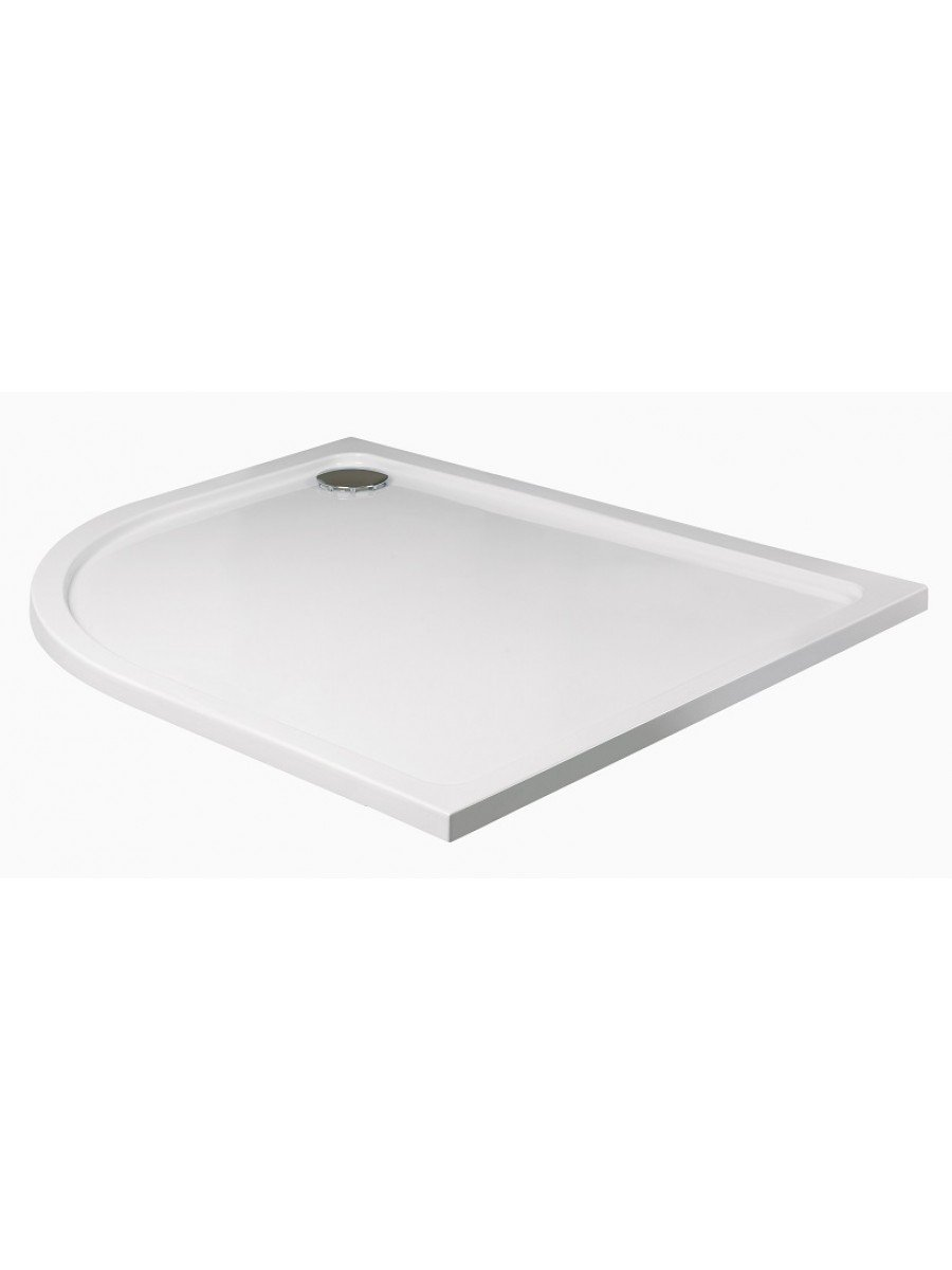 Kristal Low Profile 1200x900 Offset Quadrant Shower Tray LH with FREE shower waste