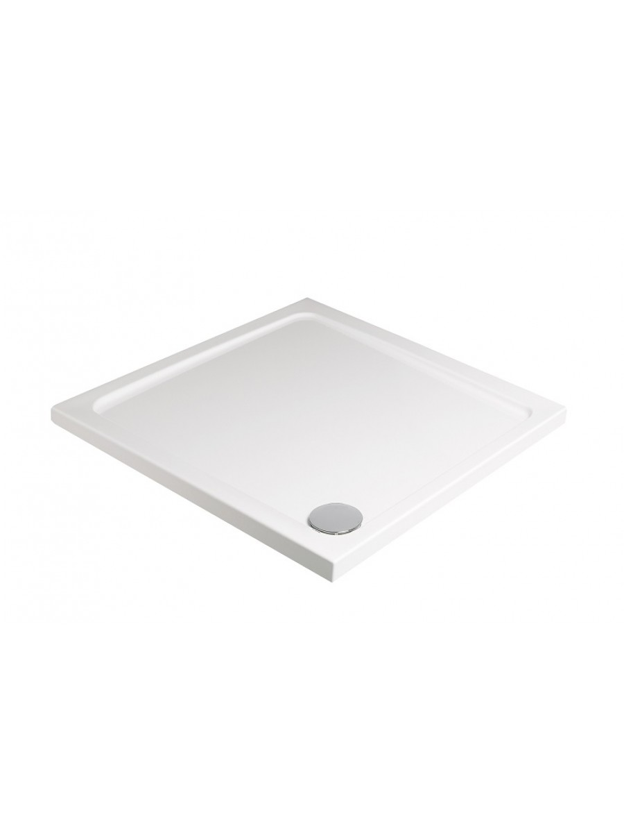 Kristal Low Profile 900 Square Shower Tray with FREE shower waste
