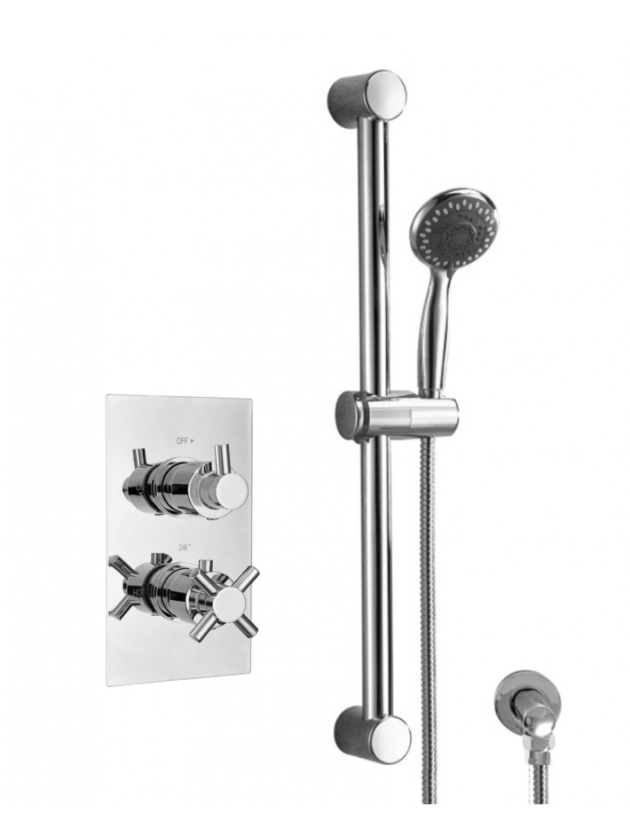 LIBRA Dual Shower Valve & Square Slide Rail Kit
